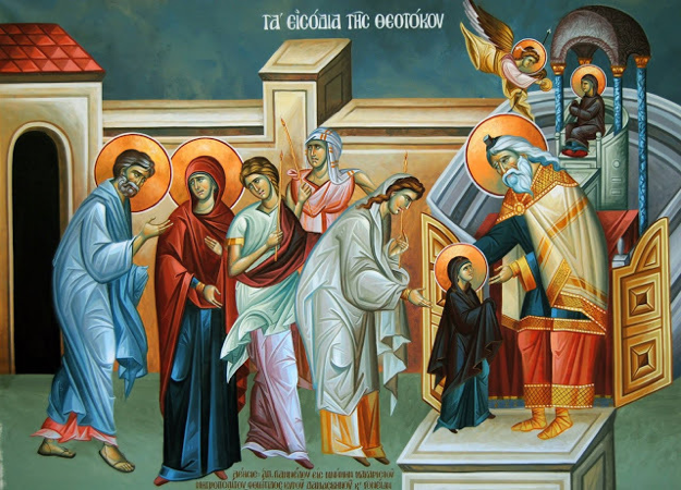 Image result for entrance of the theotokos into the temple icon