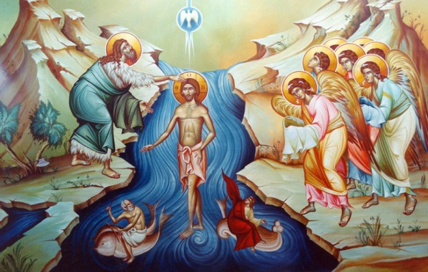 Image result for baptism of the lord icon